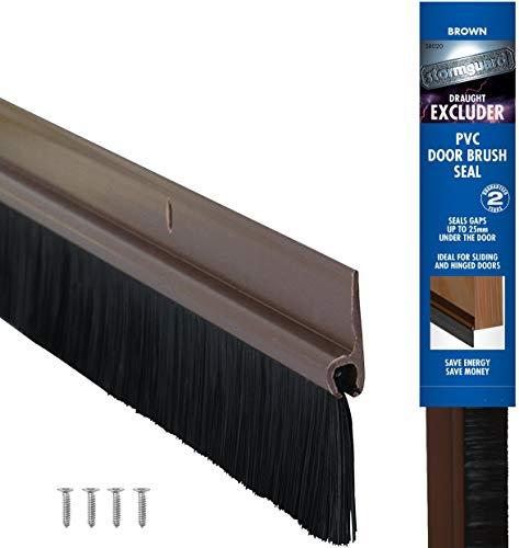 STORMGUARD Bürstenleisten-Türstreifen Zugluftstopper–Braun