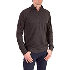 [ MID WEIGHT PRO-KNIT QUARTER ZIP SWEATSHIRT ] Flatlock seams, tagless interior, low bulk athletic fit. Interlock merino Pro-Knit construction for extra stretch, odor resistance, moisture wicking, itch free, 4-season comfort. Quarter-zip front neck c...