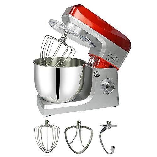 Mezclador de harina para el hogar de 1200 W Mezclador de harina comercial de 7L Mezclador de mesa Mezclador de pie, batidor y gancho para masa   Preparación, horneado y cocción de alimentos