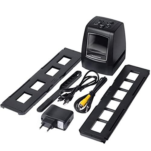Petrichori Host de Alta resolución Escáner fotográfico de 35/135 mm Escáner de película de Diapositivas Convertidor de película Digital LCD 2,36'- Negro