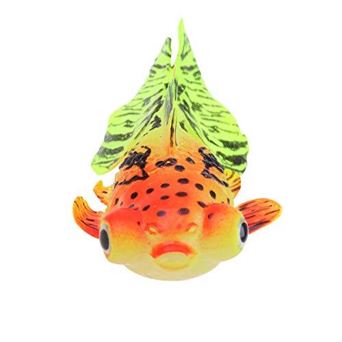Balacoo Silikon Aquarium künstliche Fische glühend schwimmende Goldfisch Ornament lebensechte gefälschte Fischdekoration für Aquarium