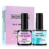 Monlida Base Coat y Top Coat Gel Semipermanente UV LED...