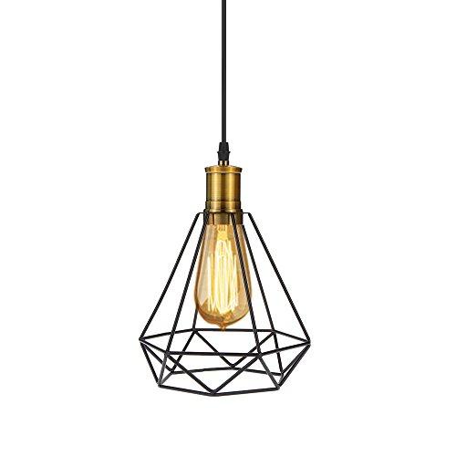 Tomshine Lampe, Pendelleuchte, Lampenschirm aus Metall, Diamant, 0-60 W, Deckenleuchte mit Kabel, Deko für Restaurant, Wohnzimmer, Esszimmer, Studio, 110-240 V (ohne Leuchtmittel) Style #1