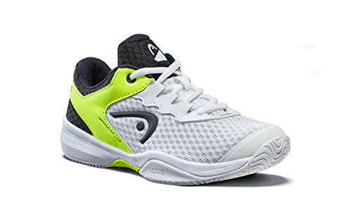 Head Sprint 3.0 Jnr, Zapatillas de Tenis Unisex Niños, Blanco (White/Navy Yellow Whny), 36 EU