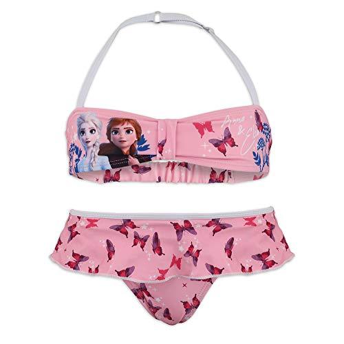 Disney Die Eiskönigin 2 Bikini-Set, 2-teilig, für Meer, Schwimmbad, Mädchen, Originalprodukt mit offiziellem Lizenzprodukt, Pink 85A