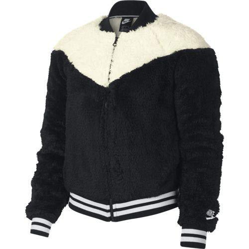 NIKE Women's Sportswear Sherpa Windrunner Jacket (Black, X-Large)