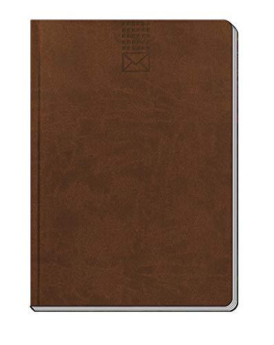 Adressbuch, A5, Adressbücher, blau, braun, grau, groß: Soft Touch Adressbuch A5