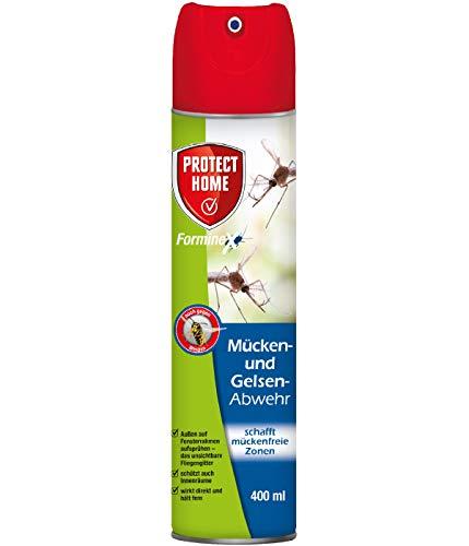 PROTECT HOME FormineX Mücken-und Gelsen-Abwehr Barriere-und Kontakt-Spray mit Sofortwirkung, auch gegen Wespen, 400 ml