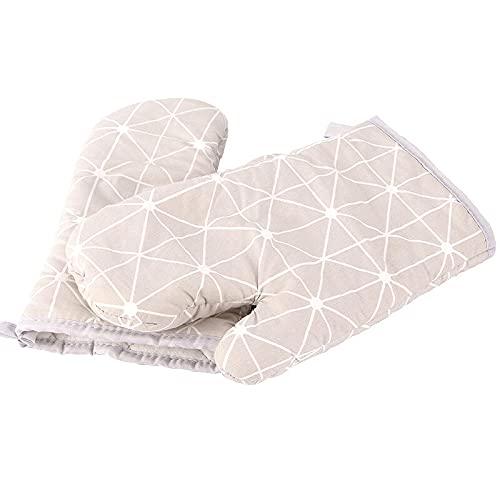 Guantes de algodón de aislamiento de hornear Guantes de horno de microondas Guantes de hornear a cuadros