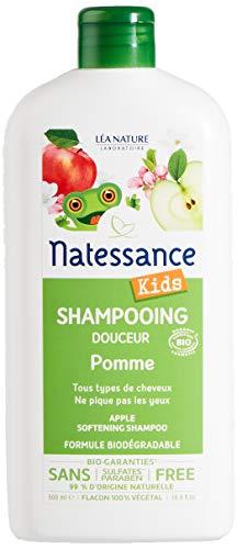 Natessance Kids Shampooing Corps et Cheveux Pomme sans Sulfate 500 ml