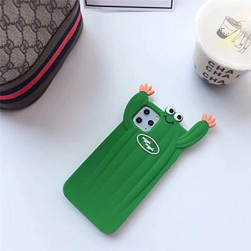 3D Cartoon Cactus Ketchup Gebakken Churros Telefoon Case Voor iPhone X XR 11 Pro XS MAX X 7 8 Plus Zachte siliconen Achterkant Tas, Stijl1, voor iphone XR
