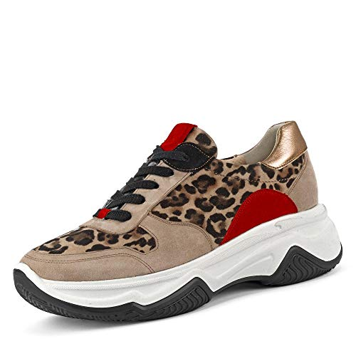Paul Green 4764 Damen Sneakers Leopard, EU 38