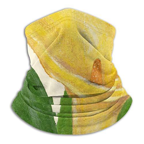 Pañuelo para cuello cuadrado amarillo Lily para cubrir la cabeza, bufanda, calentador de cuello, pasamontañas para motocicleta, ciclismo, montar a caballo, correr
