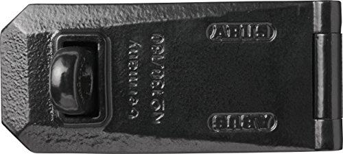 ABUS Granit Überfalle 130/180 - als Vorrichtung für Granit Vorhängeschlösser ideal - extrem stabil mit gehärteten Gelenkstiften - 07998 - Level 10 - Schwarz