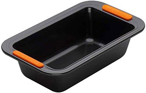 Le Creuset Antiaanbakbakvorm, rechthoekig, 23,5 x 13,5 cm, PFOA-vrij, zuurdeegbestendig, gemaakt van koolstofstaal, antraciet/oranje