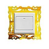 ToDIDAF Sticker Mural pour Interrupteur, Cadre Photo, Miroir, décoration de Maison, Sticker Mural Style...