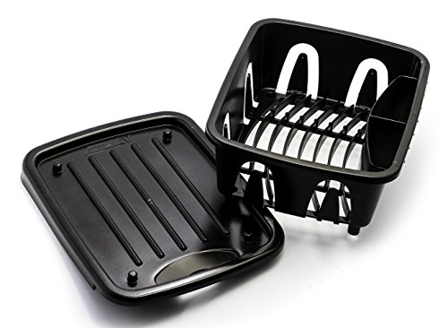 Camco 43512 Mini Dish Drainer & Tray Black