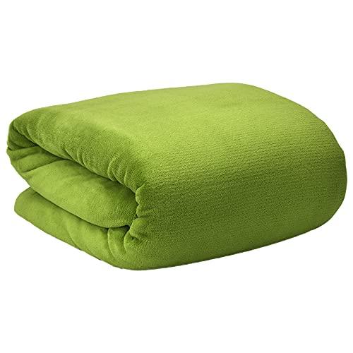 Beautissu Aurelia Kuscheldecke 150x200 cm – Flauschige Wohndecke für Sofa, Couch und Bett - Microfaser Fleecedecke als Tagesdecke oder Sofa Überwurf - weiche Wohnzimmerdecke – Grün