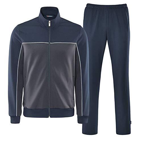 Schneider Sportswear Herren Sport-Freizeit-Trainingsanzug MILOSM Anzug grau blau, Größe:30