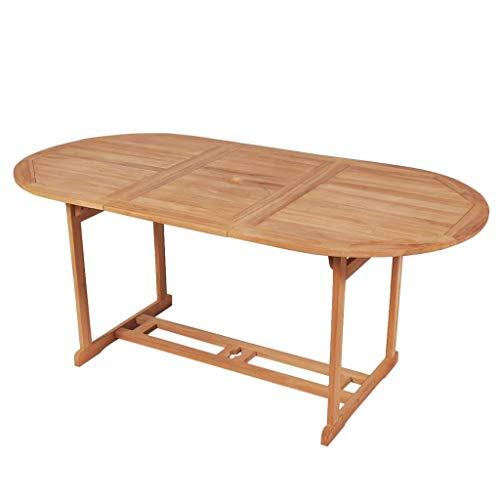 vidaXL vidaXL Teak Massiv Gartentisch 180cm Esstisch Holztisch Terrassentisch Tisch