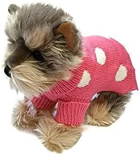 pink dog sweater small