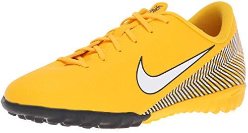 Nike Jr Vapor 12 Academy GS NJR TF, Zapatillas de fútbol Sala Unisex Adulto, Multicolor (Amarillo/White/Black 710), 38.5 EU