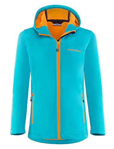 Black Crevice Kinder Softshelljacke, blau/Orange, 164