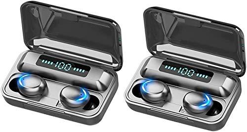 KEEBON 4pcs Mini Bluetooth 5.0 Auricular inalámbrico LED Auriculares Auriculares Auriculares