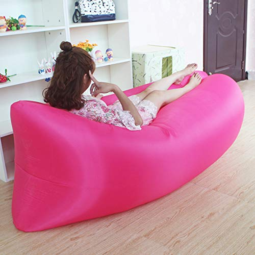 HiXB Air Sofa Wasserdichtes Luftsofa Transportabler Air Lounger mit Tragebeutel Zum Schlafen im Freien im Innenbereich Aufblasbarer Sitzsack,ColorC
