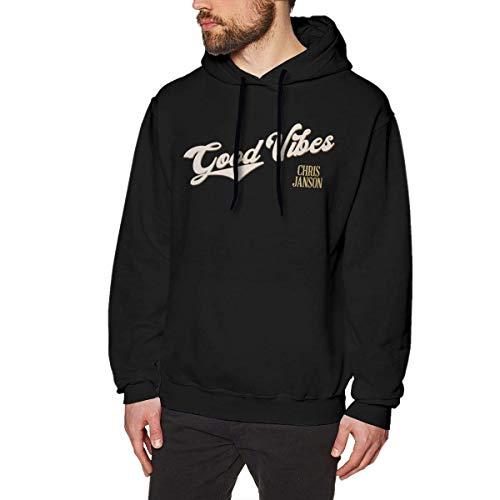 Chris Janson Hoodies Men's Hoodie Sweater Fashion Long Sleeve Top Hooded Sweatshirt Hoodies,Black,Medium