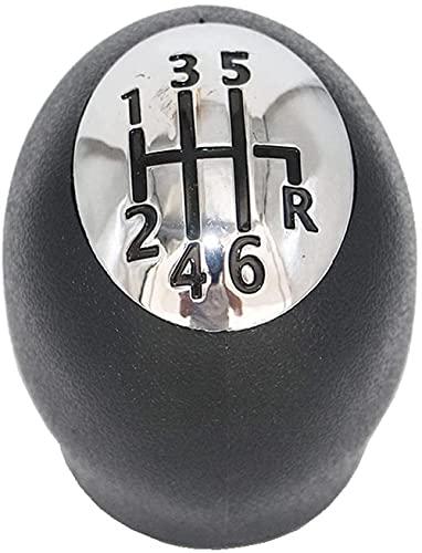 Perilla de Cambio de Coche, Perilla de Cabeza de Balonmano de Bola de Engranaje, Tapas cromadas, aptas para R/enault Megane GRANDTOUR MK 3 2008-2016 Megane MK3 2008-2016-123456R
