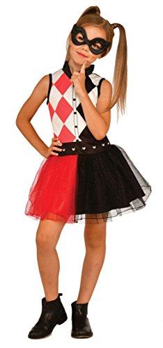Rubies - Rubie's, costume ufficiale con tutù Harley Quinn + lupo 4-6 anni, I-G31975, multicolore