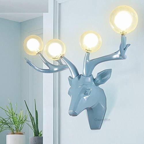 Wandspot Wandlamp Moderne hars gewei wandlampen LED Deer wandlamp glas wandlampen voor wooncultuur woonkamer slaapkamer lamp spiegel verlichting
