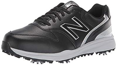 New Balance Men's Sweeper Waterproof Spiked Comfort Golf Shoe, Black, 11 4E 4E US