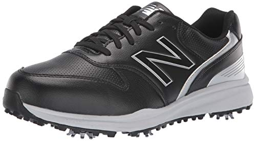 New Balance Men's Sweeper Waterproof Spiked Comfort Golf Shoe, Black, 10.5 D D US