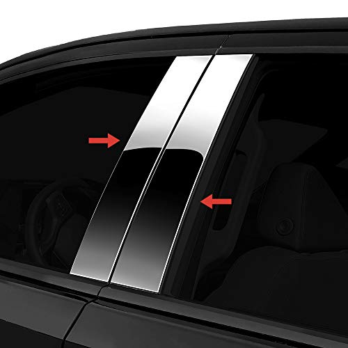 Made in USA! Compatible with 2000-2007 Mercedes-Benz C Class 4 PC Stainless Steel Chrome Pillar Post Trim