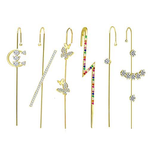 BestSiller Pendientes de oreja, pendientes de gancho, pendientes de ojo con diamantes de imitación para mujer