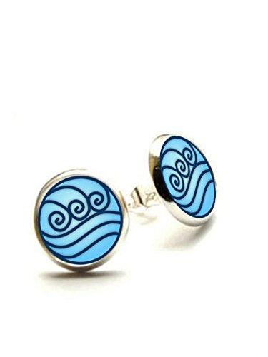 Water Tribe Stud Earrings - Avatar the Last Airbender - Hypoallergenic Earrings