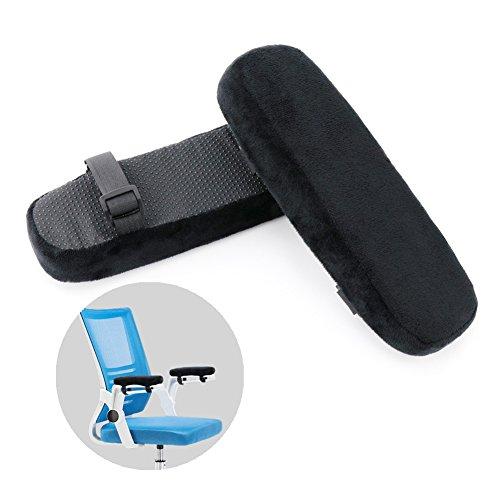 Fitam Armlehnen polster für Bürostuhl Rollstuhl, Armlehnen Pads Kissen für Ellbogen und Unterarmen Druckentlastung, 2 Stück