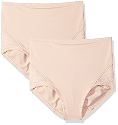 Bali Women's Passion for Comfort 2-Pack Shaping Brief, Soft Taupe, X Large