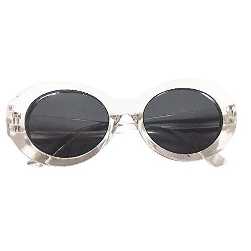 Retro Vintage Clout Goggles Unisex Sunglasses Rapper Oval Shades Grunge Glasses Goggles Bold Oval Retro Mod Kurt Cobain Sunglasses