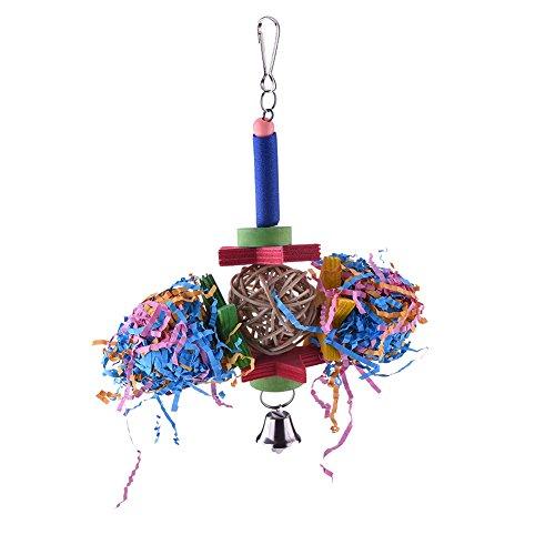 Vogelkäfig-Spielzeug Schredder für Papageien, Aras, Graupapageie, Wellensittiche, Kakadus, Sittiche, Nymphensittiche, Finke