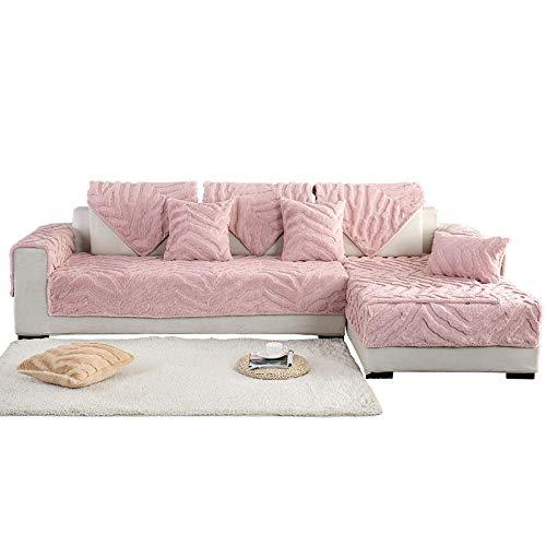 Ginsenget Funda sofá Jacquard Fundas de 1 Pieza,Forma de Funda de sofá hogar,Cojín de sofá,Rosa,70 * 210cm