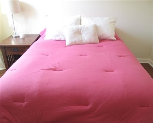 DormCo Jersey Knit Comforter Twin XL (100% Cotton) - Pink Twin Extra Long