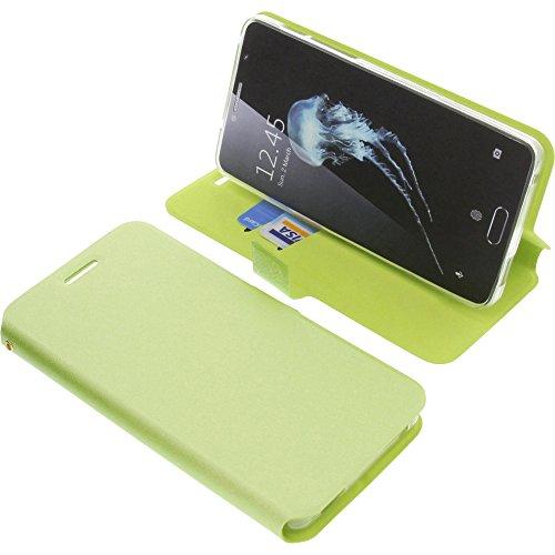 foto-kontor Tasche für Alcatel Flash Plus 2 Book Style grün Schutz Hülle Buch