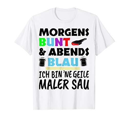 Herren Maler Geschenk Malermeister T-Shirt Lustiger Spruch T-Shirt