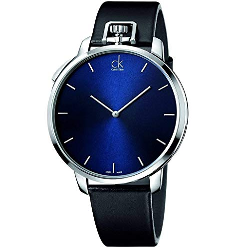 calvin klein k3z211cn watch exceptional mens blue dial stainless steel case quartz movement calabria stainless steel