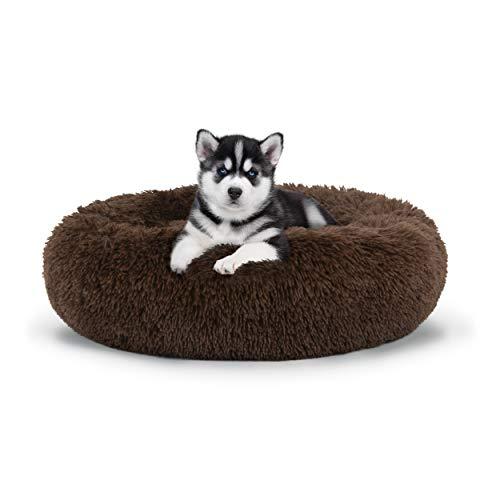 The Dog's Bed Sound Sleep Hundebett, Donut-Design, hochwertig, beruhigendes Nest aus Plüsch