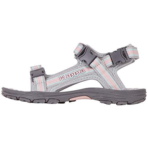 Kappa RUSHEEN Kids Outdoor Sandals, Grey, 38 EU