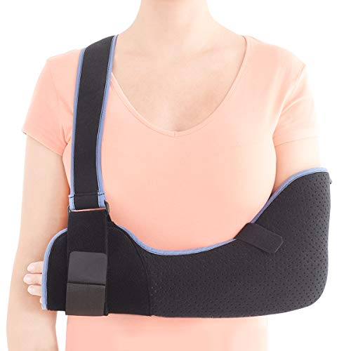 VELPEAU Arm Sling Shoulder Immobilizer - Rotator Cuff Support Brace - Comfortable Medical Sling for Shoulder Injury, Left and Right Arm, Men and Women, for Broken, Dislocated, Fracture, Strain (Small)